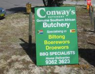 2005 Conways Butchery road sign 1